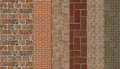 Masonry samples of six materials Royalty Free Stock Photo