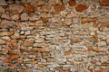 Masonry in Spain, old stone walls Royalty Free Stock Photo