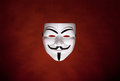Masque anonyme (masque de Fawkes de type) Photo libre de droits