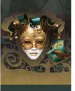 Masquerade Carnival New Year Flier Stock Images