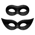 Masquerade eye mask black masks illustration Stock Photography