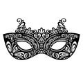 Masquerade mask beautiful vector patterned design Royalty Free Stock Photos