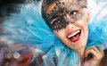 Masquerade mask cute girl in Royalty Free Stock Image