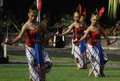 Mass dance thousand of dancer performin named kuncharaning kuto sala in solo central java indonesia Stock Image