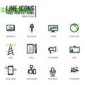 Mass media line icons Royalty Free Stock Photo