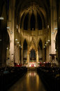 Mass at St. Patrick's Cathedral, Manhattan, NYC. Royalty Free Stock Photo