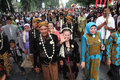 Mass wedding dozens of brides follow in the city of solo central java indonesia Stock Photo