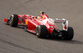 Massa of Ferrari racing in F1 on 20 April 2012 Royalty Free Stock Images