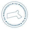 Massachusetts vector map sticker.