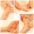 Massage collection of reflexology foot Stock Photo