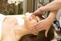 Massage and facial peels at the salon cosmetics Royalty Free Stock Photos