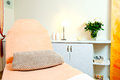 Massage room interior of chair or bed in front Royalty Free Stock Image