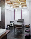Massage room in a spa salon Royalty Free Stock Photo
