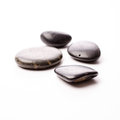 Massage stones on white Royalty Free Stock Photo