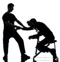 Massage therapy with chair Royalty Free Stock Image
