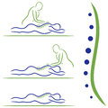 Massage treatment vector illustration of Royalty Free Stock Photography