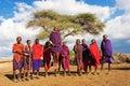 Massai Dance Royalty Free Stock Photo