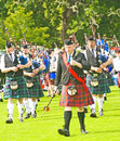 Massed Pipe Bands. Royalty Free Stock Image