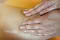 Masseur makes anti-cellulite massage for woman Royalty Free Stock Photo