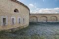 Massive bastion with gun ports the in slovakia city komarno Stock Photos