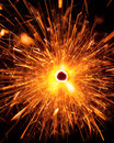 Massive christmas sparkler top view Royalty Free Stock Photos