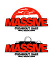 Massive clearout sale designs design templates Royalty Free Stock Photo