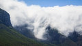 Massive clouds on a mountain beautiful top of Royalty Free Stock Photography