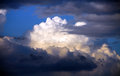 Massive clouds towering and stormy weather Stock Photo