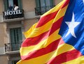 Barcelona demonstration for independence detail Royalty Free Stock Photo