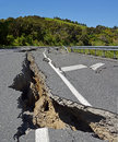 Massive Earthquake moves half New Zealand North by Several Metre Royalty Free Stock Photo