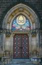 Massive gothic portal Obraz Royalty Free