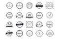 Massive logo badges template bundle Royalty Free Stock Photo