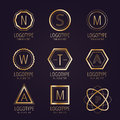 Massive logo set bundle vector icons badge Royalty Free Stock Photo