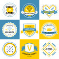 Massive logo set bundle vector Royalty Free Stock Photo