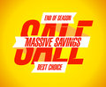 Massive savings sale banner template Stock Images