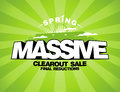 Massive spring sale design template with shopping bag Royalty Free Stock Photos
