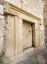 Massive stone door a at beit shearim an ancient jewish necropolis in israel Royalty Free Stock Images