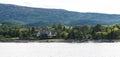 Massive Tudor Mansion on Green Coast of Maine Royalty Free Stock Photo