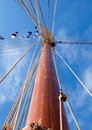 Mast detail on blue sky Royalty Free Stock Photography