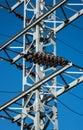 Mast of electricity transmission Stock Photo