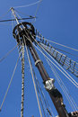 Mast of a galleon Royalty Free Stock Photo