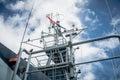 A mast of navy ship Royalty Free Stock Photo