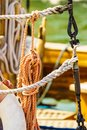 Mast rigging on boat Royalty Free Stock Photo
