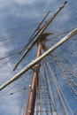 Mast and rigging on a old sailing ship Stock Photography