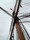 Mast and rigging on sailboat Royalty Free Stock Photo