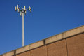 Mast on the roof building in miami usa Royalty Free Stock Photo