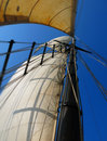 Mast of a sail boat Royalty Free Stock Photo