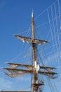 Mast of sail ship Royalty Free Stock Photo