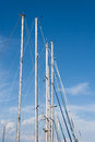 Mast sail ship with blue sky in background Royalty Free Stock Photography