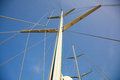 Mast sail yacht close up Stock Photography